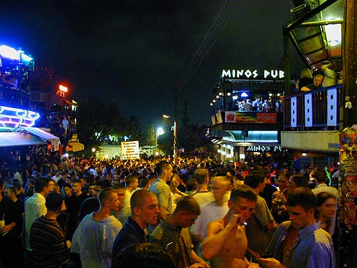 Ayia Napa Cyprus  city images : Ayia Napa quare heaving with bodies, it is going out time in Ayia Napa